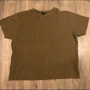 Men's H&M Olive Green Shirt Sleeve